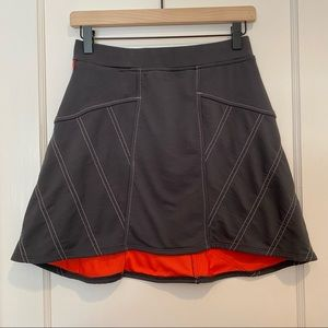 Title Nine Gray and Red Hi Lo A-Line Skirt Size XS